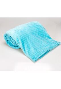 Cobertor Queen 2,20X2,40M Canelado Acqua