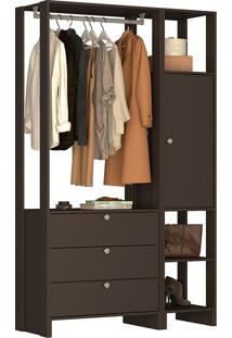 Guarda-Roupa Modulado Closet 102107 - Nova Mobile - Grafite Intenso