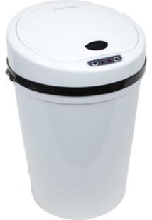 Lixeira Automatica 9 Litros Com Sensor De Abertura Branca