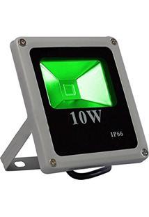 Refletor De Led 10 Watts Verde*