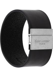 Saint Laurent Bracelete Com Logo - Preto