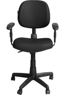 Cadeira Pethiflex Ce-Ergonômica Giratória Couro Preto