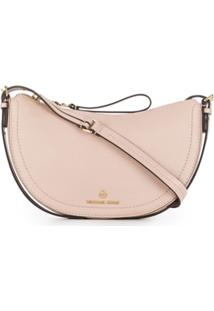 Michael Michael Kors Shoulder Saddle Bag - Rosa