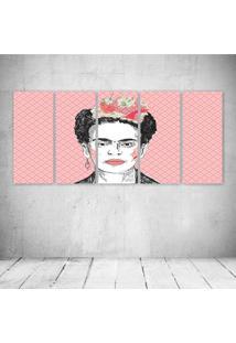 Quadro Decorativo - Frida Pink - Composto De 5 Quadros