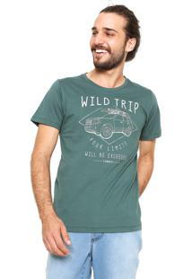 Camiseta Sommer Estampada Verde