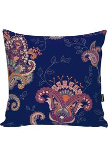 Capa Para Almofada Indian- Azul Marinho & Roxa- 45X4Stm Home