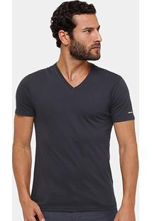 Camiseta Calvin Klein Gola V Cavada Masculina - Masculino