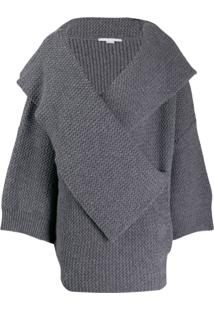 Stella Mccartney Cardigan Oversized De Tricô - Cinza