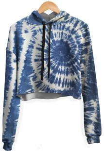 Blusa Cropped Moletom Feminina Over Fame Tie Dye Md22 - Branco - Feminino - Poliã©Ster - Dafiti