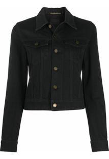 Saint Laurent Jaqueta Jeans Clássica - Preto
