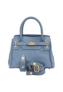 Bolsa Legítimo Azul Jeans Premium De Mão Atz 11