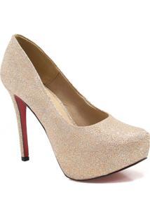 675cf9d562 Sapato Dourado Festa feminino