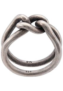 M. Cohen Curb Band Ring - Prateado