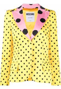 Moschino Blazer De Poás - Amarelo