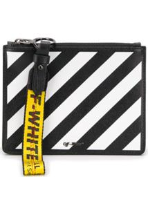 Off-White Clutch Listrada - Branco