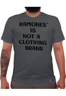 Ramones Is Not A Clothing Brand - Camiseta Clássica Premium Masculina
