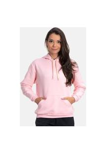 Blusa Moletom De Frio Rosa On Fleek Com Capuz