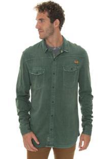 Camisa Timberland Light Cargo Masculina - Masculino-Verde