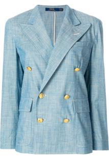 Polo Ralph Lauren Blazer Com Abotoamento Duplo - Azul