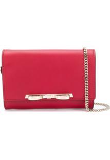 Red Valentino Red(V) Sandie Bow Detail Clutch - Vermelho