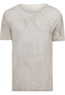 Camiseta Masculina Pied Craking - Cinza