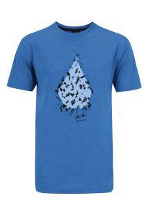 Camiseta Volcom Silk Chop Stone - Masculina - Azul
