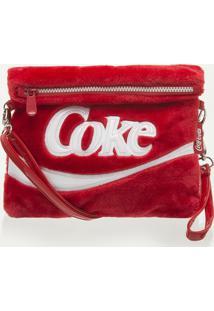 Bolsa Transversal Plush Vermelho Coca Cola