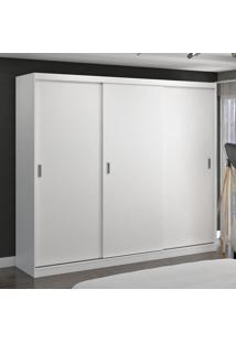Guarda-Roupa Casal 3 Portas De Correr 100% Mdf 7320G4 Branco - Foscarini