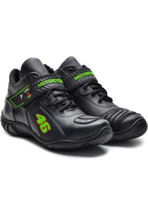 Bota Top Franca Shoes Adventure Masculino - Masculino-Preto+Verde