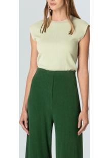 Blusa Fem Silk Rustic-Verde Claro - P