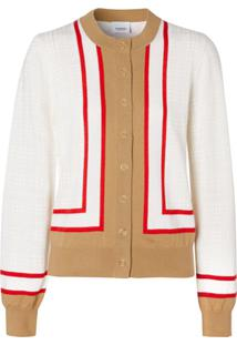 Burberry Archive Society Intarsia Cardigan - Branco