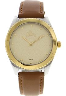 Relógio Allora Al2035Fmk5X Prata/Caramelo