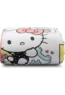 Edredom Total Mix Jr 150 Fios Hello Kitty Solteiro - Artex - Branco