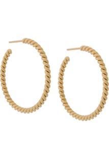 Isabel Lennse Xl Twisted Hoop Earrings - Dourado