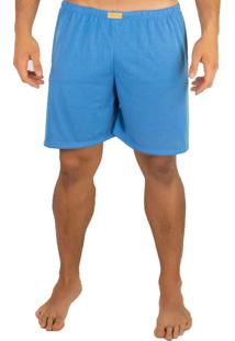 Short Curto Mvb Modas Pijama De Dormir Azul Claro.