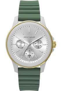 Relógio Mormaii Feminino Luau - Mo6P29Af/8V Mo6P29Af/8V - Feminino-Prata+Verde