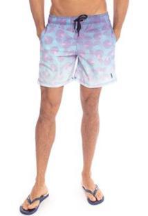 Shorts Aleatory Circle Masculino - Masculino-Roxo