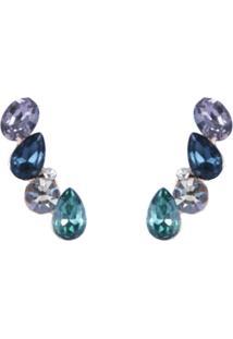 Brinco Armazem Rr Bijoux Ear Cuff Azul E Verde - Kanui