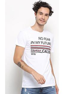 Camiseta Calvin Klein No Fear Masculina - Masculino-Branco