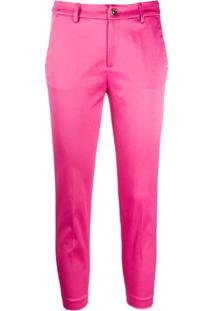 Liu Jo Slim-Fit Cropped Trousers - Rosa