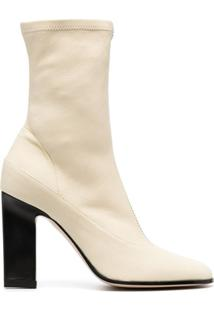 Wandler Ankle Boot Lesly De Couro - Neutro