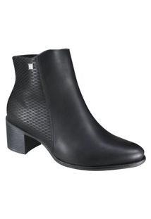 Bota Feminina Ramarim Ankle Boots Cano Curto 2065101 Preto