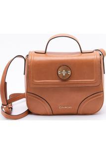 Bolsa Shoulder Bag Couro Camel - M