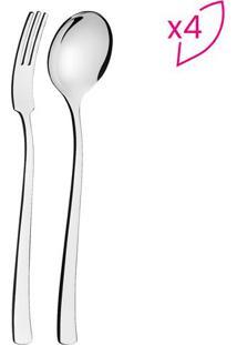 Jogo De Talheres Para Espaguete Berlin- Inox- 8Pçs