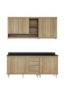 Cozinha 5 Módulos 8 Portas 3 Gavetas Argila Multimóveis