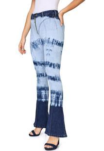 Calça Jeans Carmim Flare Luana Azul