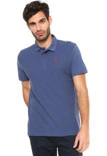 Camisa Polo Mr Kitsch Textura Azul