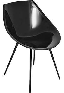 Cadeira Concha- Preta- 80X56X57Cm- Falkkfalkk