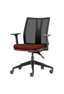 Cadeira Addit Assento Crepe Vermelho Rubi Com Base Piramidal Em Nylon - 54118 Vermelho