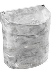 Lixeira Para Pia Glass 2,7 Litros Mármore Branco